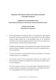 Declaration of the Executive Board and the Supervisory Board of ...