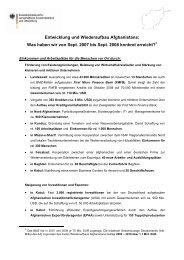 Bilanz zur Entwicklung und zum Wiederaufbau ... - Rainer Arnold