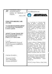 Cinquantenario dell'AIIG 1954-2004 - Università degli Studi di Padova