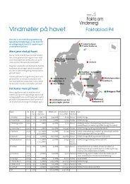 Faktablad P4 Vindmøller på havet - Danmarks Vindmølleforening