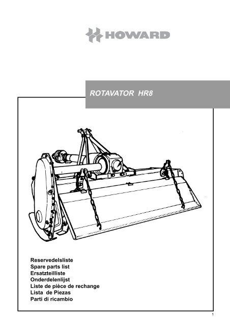 Howard Hr8 Rotavator