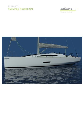 ELAN 400 Preliminary Pricelist 2013 - WNE Yachting