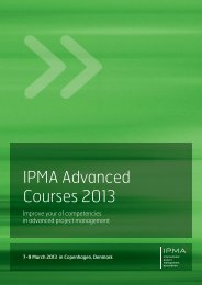 IPMA Advanced Courses 2013