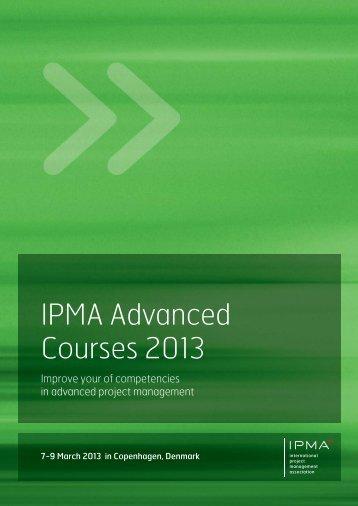 IPMA Advanced Courses 2013