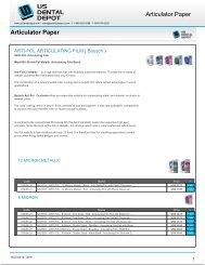 Articulator Paper Articulator Paper - Dental Supplies