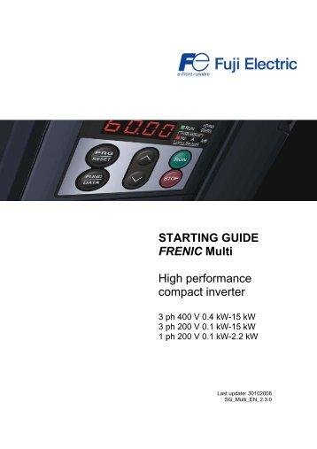 Fuji Frenic Mini Compact Inverter User S Manual Cti