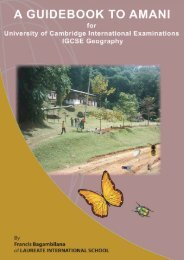 Guidebook to Amani - MWUCE