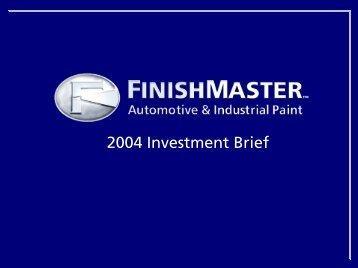 2004 Investment Brief