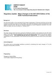Regulatory Update - Major Changes in the 2013-2014 Edition - 民航處