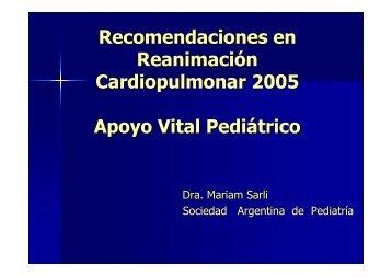 Recomendaciones en Reanimación Cardiopulmonar 2005 Apoyo ...