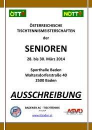 einladung zu den 33. österr. tischtennismeisterschaften der senioren ...