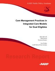 Care Management Practices in Integrated Care Models for Dual ...