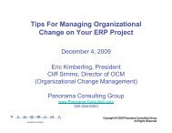 Tips For Managing Organizational Change on Your ERP Project