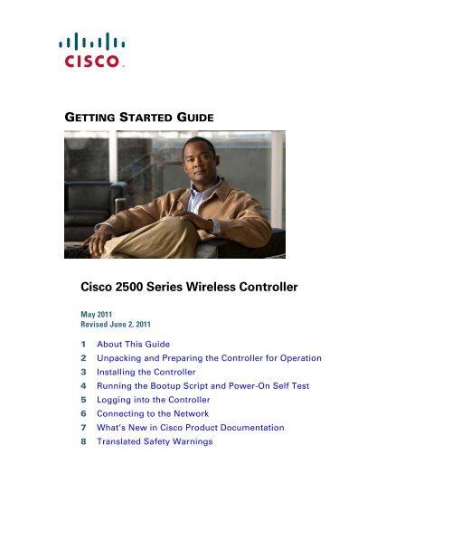 Cisco 2500 Series Wireless Controller Getting Started Guide