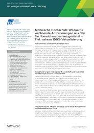Technische Hochschule Wildau für wachsende ... - VMware