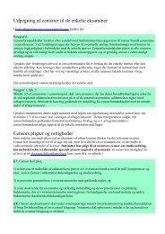 Udpegning af censorer til de enkelte eksaminer Censors pligter og ...