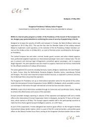 Hungary committed to successful first implementation of the ...