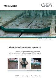 ManuMatic manure removal ManuMatic - Mullerup