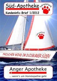 Kundeninfo-Brief 1/2012 - Süd-Apotheke