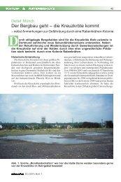 Der Bergbau geht – die Kreuzkröte kommt - Detlef Münch