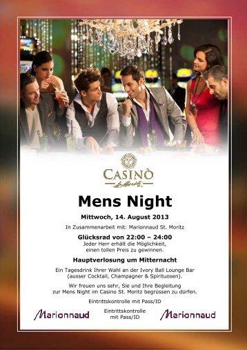Plakat Mens Night 14 08 2013