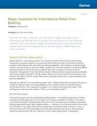 Magic Quadrant for International Retail Core Banking - Gora