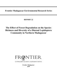 The Effect of Forest Degradation on the Species Richness and ...
