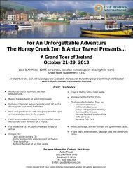 For An Unforgettable Adventure The Honey Creek Inn & Antor Travel ...