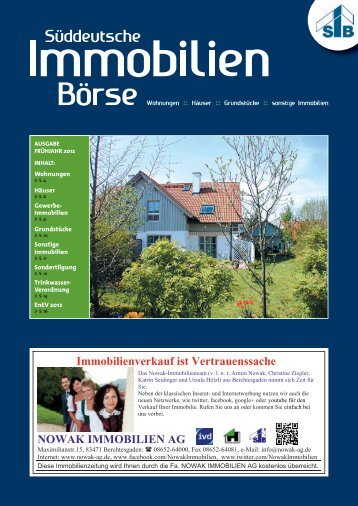 Immobilienverkauf ist Vertrauenssache NOWAK IMMOBILIEN  AG