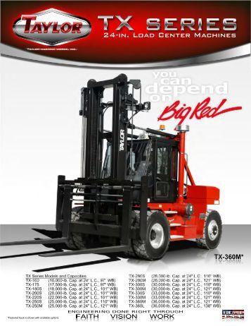 TX Series Brochure - Taylor Machine Works