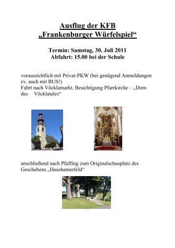 Plakat Ausflug KFB 2011 - Pfarre-henndorf.at