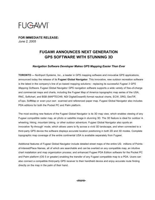 3  Fugawi anounces next generation of GPS software with st…