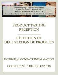 Réception de dégustation de produits - Canadian Meat Council