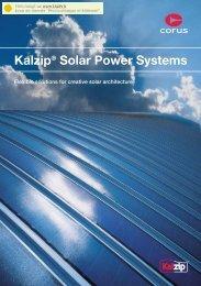 Kalzip® Solar Power Systems