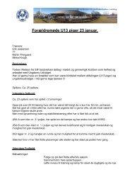 Referat af forældremøde hos U 13-pigerne 23. januar 2013
