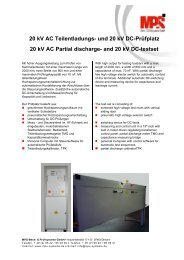 and 20 kV DC-testset - MPS Mess und Prüfsysteme GmbH