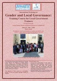 International workshop on Gender and Local Governance