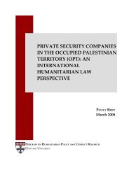 The Relevant Law - Program on Humanitarian Policy and Conflict ...