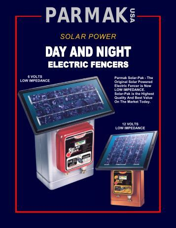 solar energizer solar pak electric fencers brochure anchor fence whole rs