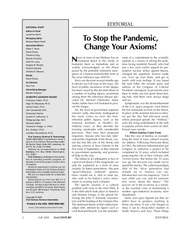 Flu Pandemic Coming - 21st Century Science