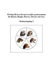 Drevprovsregler remissrunda 2 - Svenska Taxklubben