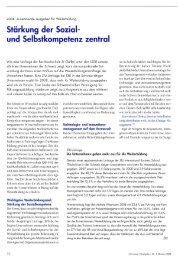 Stärkung der Sozial- und Selbstkompetenz zentral - SVF - ASFC ...