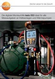 Die digitale Monteurhilfe testo 550 ideal für alle Messaufgaben an ...