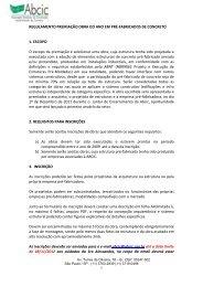 1 REGULAMENTO PREMIAÇÃO OBRA DO ANO EM PRÉ ... - ABCIC