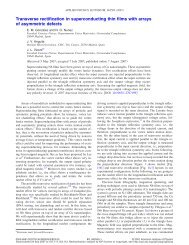 Transverse rectification in superconducting thin films with arrays of ...
