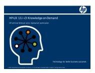 HP-UX 11i v3 Knowledge-on-Demand - Hewlett Packard