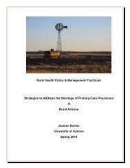 Rural Health Policy & Management Practicum Strategies to Address ...