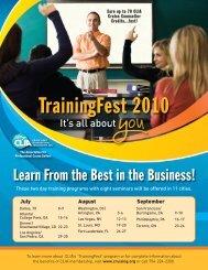 TrainingFest 2010 - Cruise Lines International Association