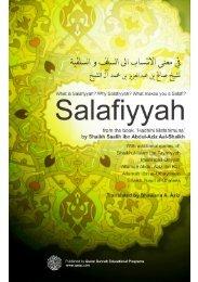 Salafiyyah is not a Hizbi (partisan) Madhhab - QSEP