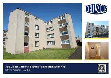 32/6 Calder Gardens, Sighthill, Edinburgh, EH11 4JS Offers Around ...